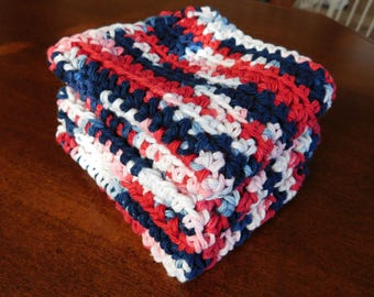 Crocheted 100% Cotton Dishcloths (set of 3)