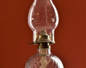 Clear Glass Oil Lamp by Kaadan LTD/ Kaadan LTD