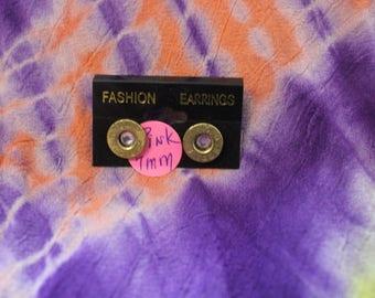 BULLET EARRINGS pink 7mm