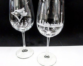 Custom Wine Glasses Set of 2