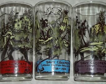 Davy Crockett Drinking Glasses
