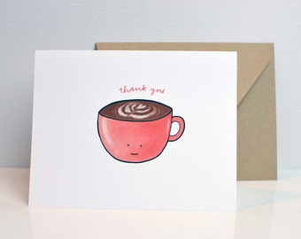 Thanks + Coffee - Thank You Card
