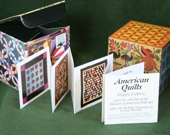 """A """"Glorious American Quilts"""" Magic Cube; Puzzle Cube Featuring 9 Quilts, American Museum of Folk Art"""