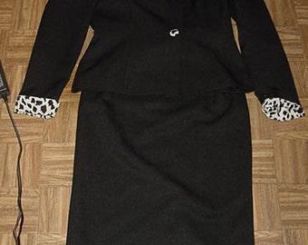 90's Skirt Set Shoulder pads size 4 petite CUTE SET
