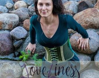 "Underbust corset ""Veda nature"""