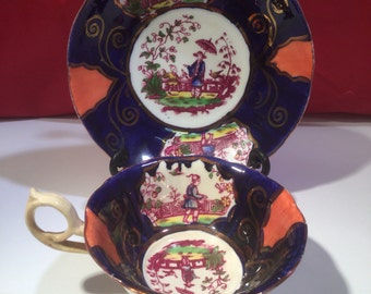 Masons Lustre Ware Cup & Saucer c1820