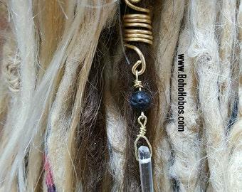 Crystal Lava Bead Diffuser Wire Locs Wrap