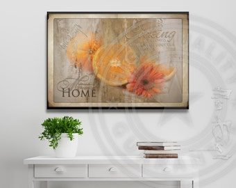 Oranges & Flower • Shabby Chic