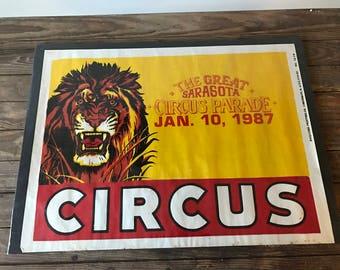The Great Sarasota Circus Parade Poster 1987