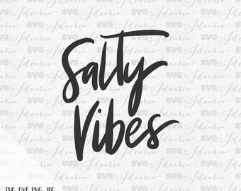 Salty Vibes Svg Svg File Sayings Summer svg Summer saying svg Quotes Summer Beach svg Svg Summer Silhouette Cricut Svg Files Summer tee