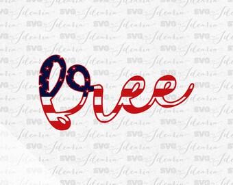 Free American Flag, 4th of July Svg, Patriotic Svg, Summer Svg, Monogram Frames Svg, fourth of july svg, svg designs, svg file, memorial day