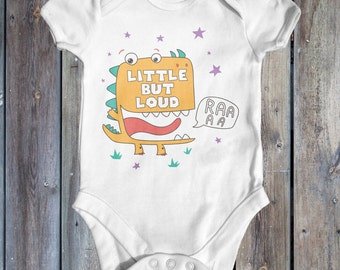 Little But Loud Dinosaur Baby Bodysuit   Cute Baby Clothes   Baby Outfit   Funny Baby Bodysuit   Baby Shower Gift   Newborn Baby