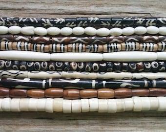 10 Strands of Buffalo Bone Beads (Lot 1)