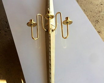 Vintage Mid Century Modern Long Wall Sconce/ Candleholder