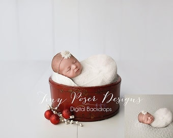 Christmas Newborn Digital Background / Backdrop Newborn Photography Digital Prop Instant Download