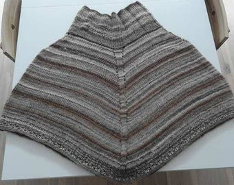 Women's Poncho Handmade Handknit Wool