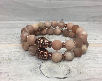 New Moon Mala Inspired Mini Buddha Bracelet - FREE US Shipping