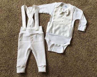 Baby Boy Blessing Outfit, Blessing Outfit, Christening Outfit, Christening Suit, White Suit, Baby Christening, White Tuxedo, Blessing Suit