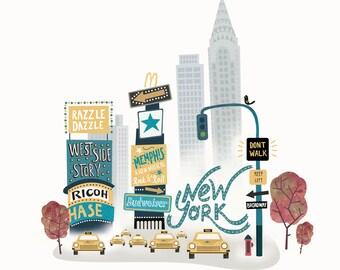 New York Artist Print