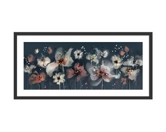 Floral Art Print. Flower Print. Flower Painting. Floral Painting. Coral Flowers. Wall Art. Wall Decor
