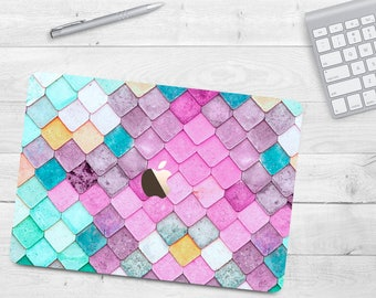Colorful Tiles Pattern Geometric Case Air 11 Air 13 Hard Case Macbook Pro 13 15 Marble Case Macbook 12 Marble MacBook Case Macbook Retina 15