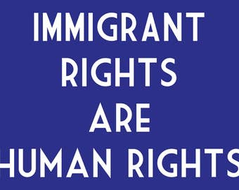 Immigrant Rights are Human Rights Women's March Postcards