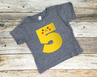 Pokemon Birthday Shirt. Pokemon party. Pokemon birthday. Pokemon shirt. Kids Pokemon Shirt.