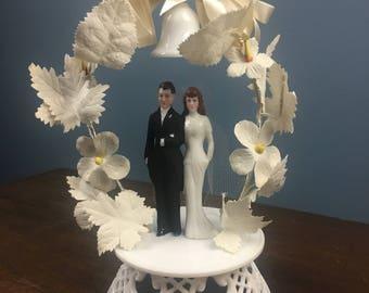 Vintage 1940's Bride Groom Wedding Cake Topper (#2)
