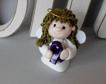 Polymer Clay Pancreatic Cancer Awareness Angel