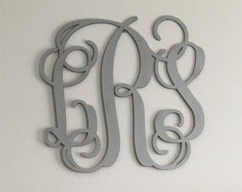 Monogram Wall Decor Custom Painted Vine Letters, Hanging Wall Plaque, Baby, Shower, Wedding, Engagement, Holiday, Any Occasion Gift