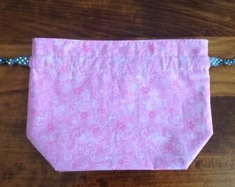 Pink Swirls Project Bag