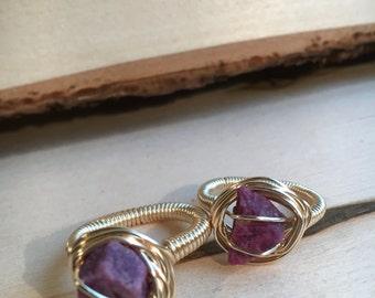 Ruby Wirewrap Ring