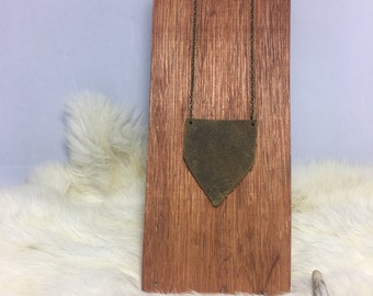 Simple leather necklace