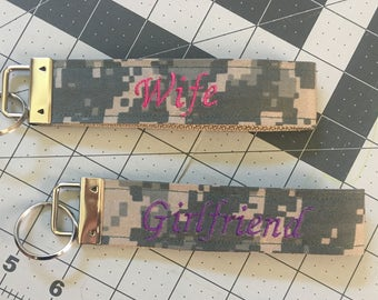 ARMY Key Ring, Army Wife or Army Girlfriend