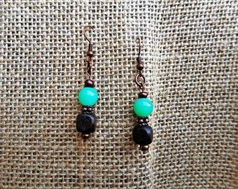 Rustic and elegant dangle earrings