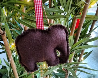 Felt elephant decorations