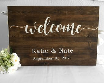 Wedding Welcome Sign - Wedding Sign - Welcome Sign - Wood Sign - Custom Sign - Custom Wood Sign - Wedding