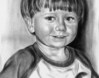 Custom Portrait Custom Pencil Drawing Pencil Portrait Custom Sketch Personalized Portrait Custom Drawing Hand Drawn Mather's day Portrait