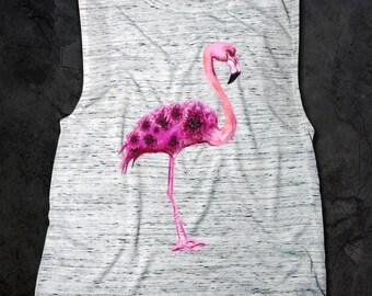 Flamingo Flowy Scoop Muscle Tank