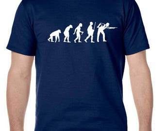 Men's Tee Shirt Evolution Pool Snooker 8 Ball Game Humor Funny Print Graphic T-Shirt
