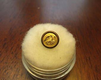 Non Dug 1820's Droop Wing Eagle Jacksonian Vest Button