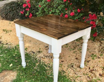 22 in. Square Childrens Farmhouse Table/End Table