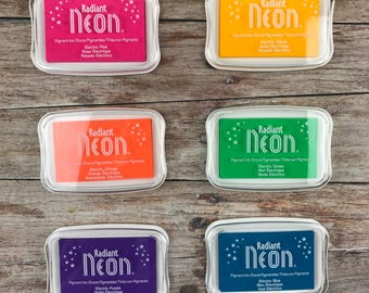NEON INK, summer ink pads, colourful ink. AWESOME!  Neon Ink Pads