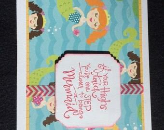 Humorous Mermaid Greeting Card