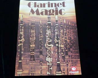 Vintage Sheet Music Book, Clarinet Magic 1977,  Clarinet Sheet Music, Old Favourites, Published Chappell and Co, Mixed Media, Ephemera