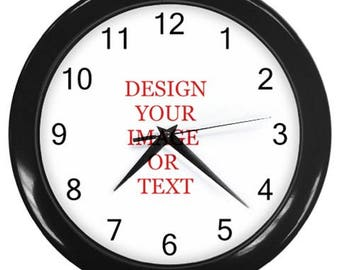 Personalized your wall clock add your image logo text customize it wall decor