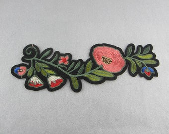 Embroidery Patch Floral Applique Iron On Flower