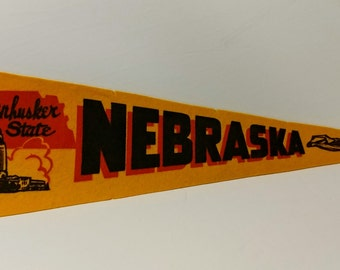 Nebraska, The Cornhusker State - Vintage Pennant