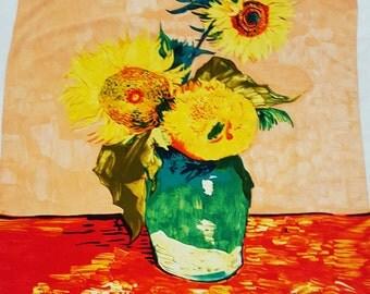 Sunflower vintage scarf