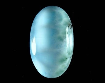 Excellent!! Larimar Oval Shape Loose Gemstone Cabochon Atlantis Atone, Turtleback, Gemstone For Jewelry Making 23X14X6mm 16Cts B-4213